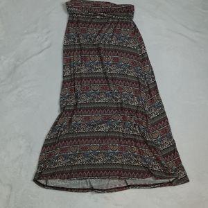 American Rag Sz L Maxi Skirt Boho Hippy Flowy